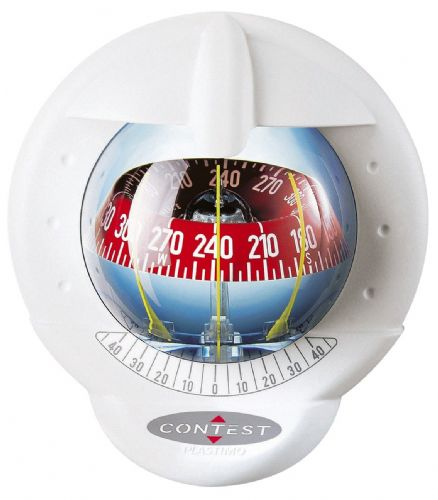 Plastimo 101 Bulhead Mounted Steering Compass White Red 64417